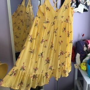 Forever 21 Yellow Floral Sundress